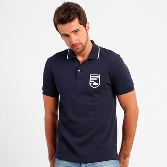 e8edefd1f4a0c Camisa Polo Lacoste Fit Brasão