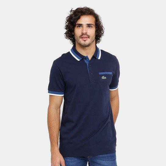 7c9ba97db936d Camisa Polo Lacoste Bolso Botão Masculina - Compre Agora   Zattini