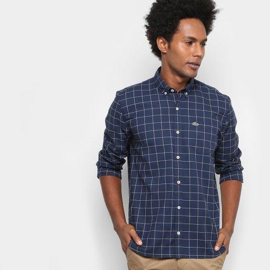 Camisa Xadrez Lacoste Regular Fit com Bolso Masculina - Compre Agora ... ebf9525584