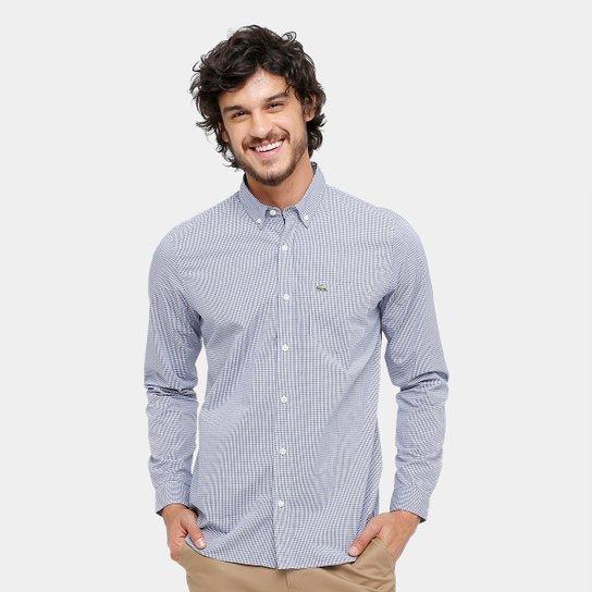5a2f8ce6a6 Camisa Xadrez Lacoste Slim Fit Masculina - Compre Agora