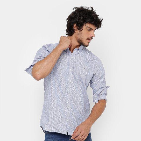 Camisa Lacoste Listras Poá Slim Fit Masculina - Compre Agora   Zattini 86096b66d7