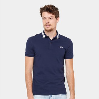 cfe09d73ae Camisa Polo Lacoste Piquet Slim Fit Rubber Croco Masculina