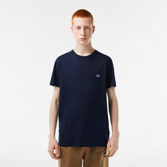 0e4a3aefd97b0 Camiseta Lacoste Básica Jersey Masculina - Marinho - Compre Agora ...