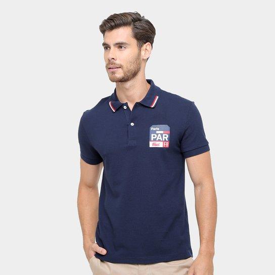e58bf8b6415 Camisa Polo Lacoste Piquet Fit Paris Masculina - Marinho - Compre ...
