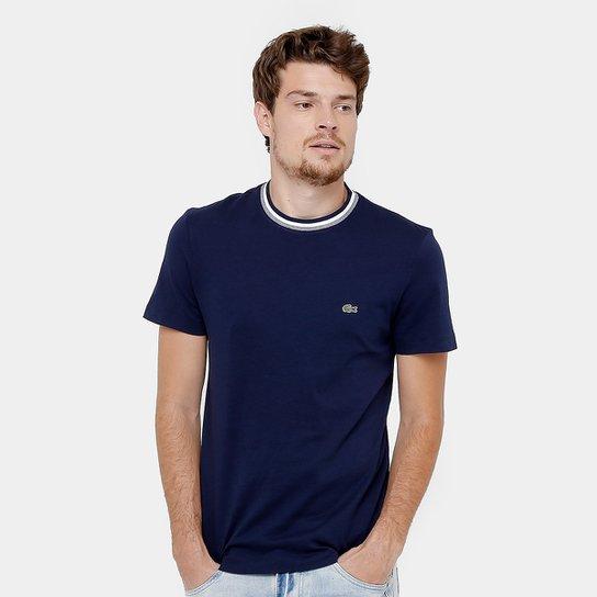fa726e68546a7 Camiseta Lacoste Regular Fit Frisos Croco Masculina - Compre Agora ...