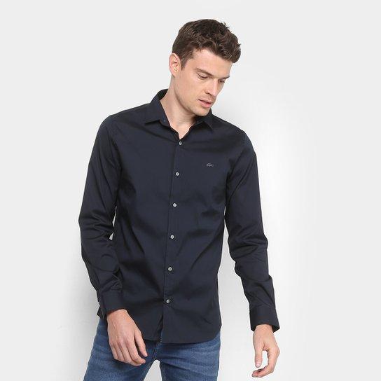 8fa5199674b Camisa Lacoste Slim Fit com Logo Masculina - Compre Agora