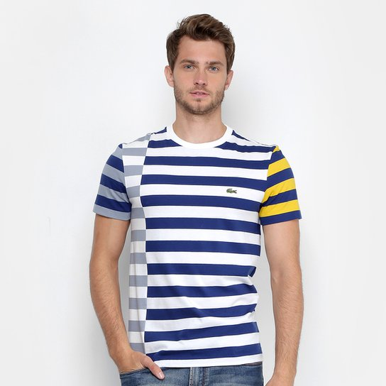 Camiseta Lacoste Listrada Masculina - Compre Agora  67d2c48345