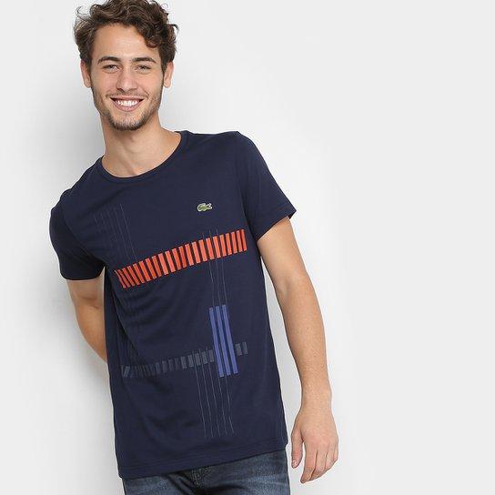 b2d450c0045 Camiseta Lacoste Sport Tennis Listrada Masculina - Compre Agora ...