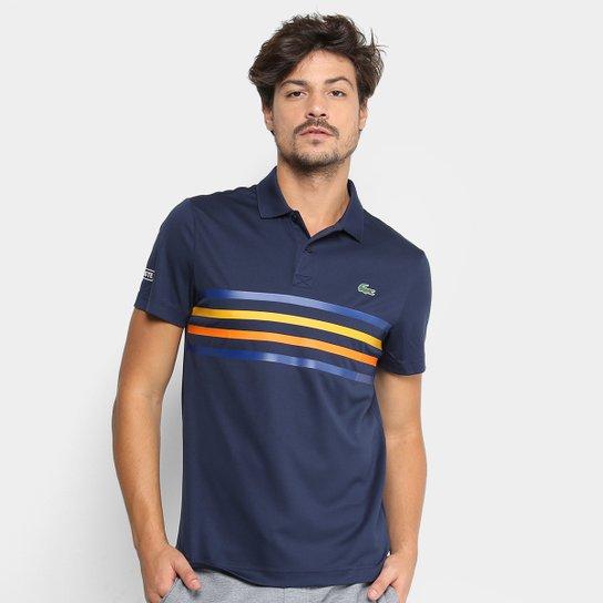 Camisa Polo Lacoste Sport Tennis Masculina - Marinho - Compre Agora ... 4ff7cdce85dd3