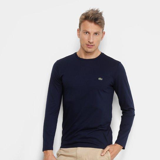 Camiseta Lacoste Manga Longa Masculina - Compre Agora   Zattini 32be86491d