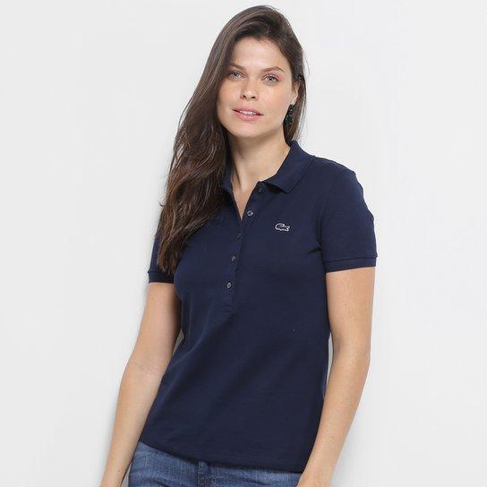 833d367fa049c Camisa Polo Lacoste Piquet Manga Curta Feminina - Compre Agora