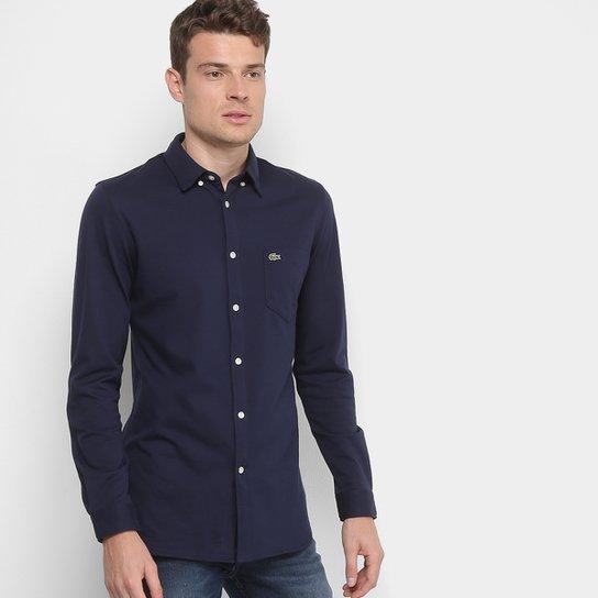 Camisa Social Lacoste Clássica Manga Longa Masculina - Compre Agora ... d270af89c4