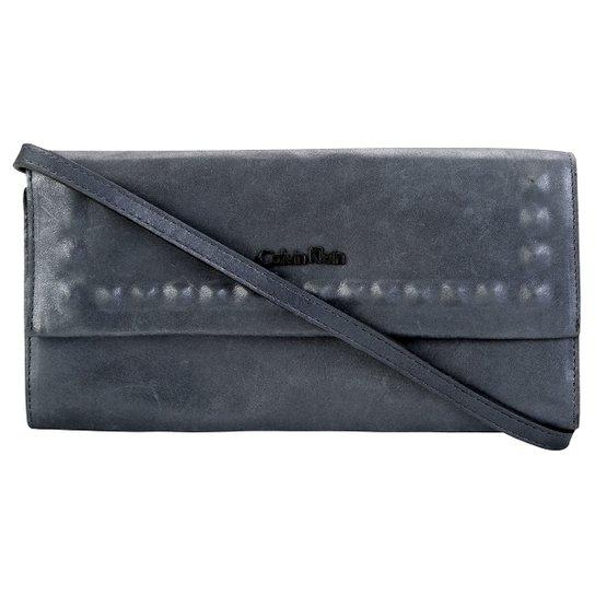 8a4949fc7 Bolsa Calvin Klein Clutch Spikes - Marinho