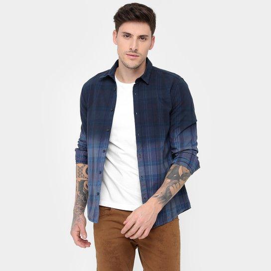 Camisa Calvin Klein Slim Fit Xadrez Tinturado Degradê - Compre Agora ... c0183d12de