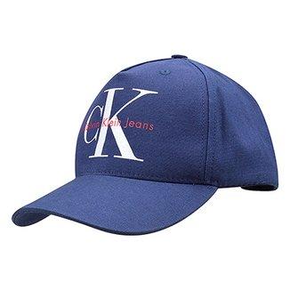 Boné Calvin Klein Aba Curva CK Masculino 9931006e610