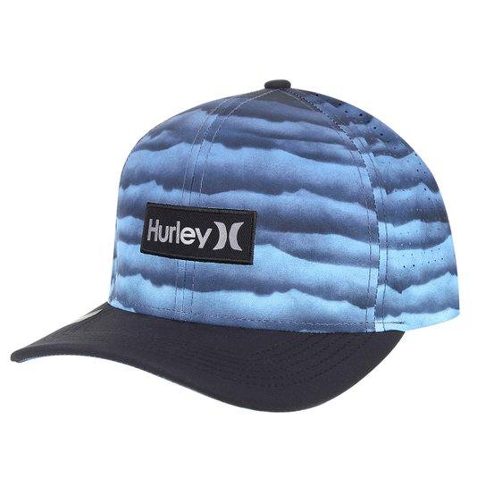 Boné Hurley Aba Curva Phanton Undertown Masculino - Marinho - Compre ... 1c08a1c8148