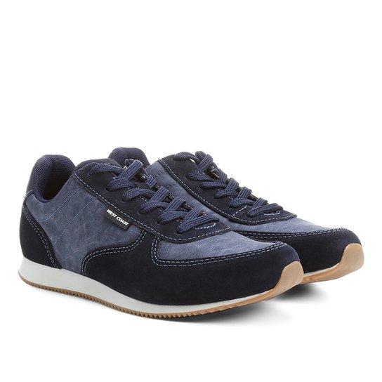Tênis Couro West Coast Jogging Masculino - Marinho - Compre Agora ... 5f861091531d1