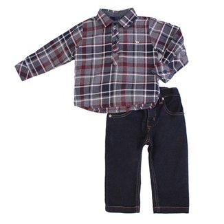 Conjunto Masculino Camisa e Calça Jeans b5b4c55923e5e