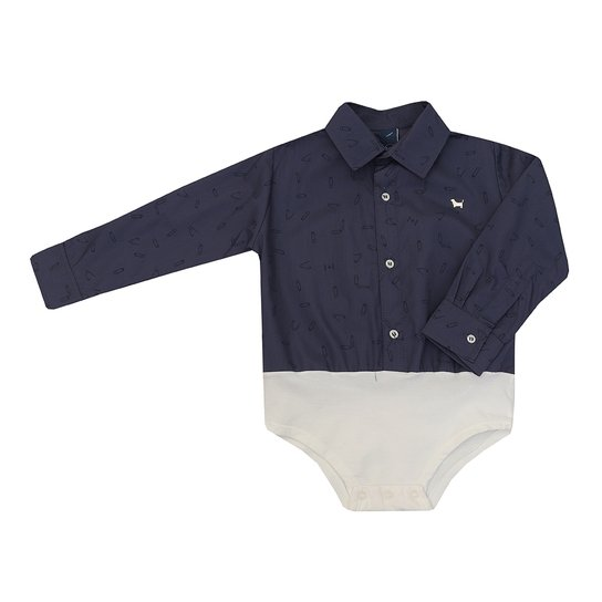 5c606bfa9a7fc Body - Camisa Masculino Bebê Manga Longa - Marinho - Compre Agora ...