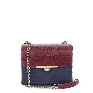 e05cb8aab Bolsa Couro Jorge Bischoff Mini Bag Alça Corrente Texturizada Feminina