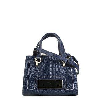 7eca09b873 Bolsa Couro Jorge Bischoff Mini Bag Croco Feminina