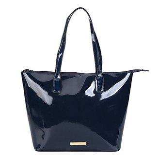 7d6505197a9 Bolsa Loucos   Santos Shopper Plaquinha Verniz Soft Feminina