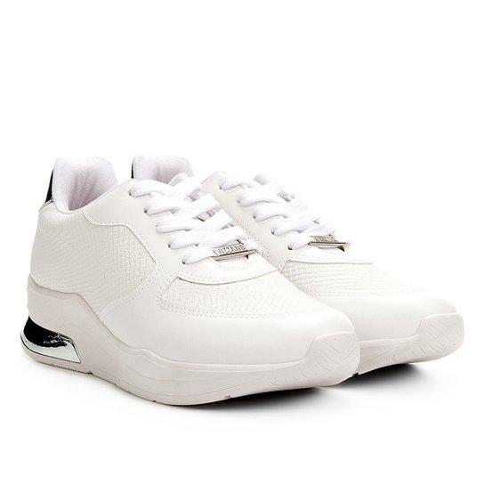 68ea90e823 Tênis Sneaker Vizzano Texturizado Feminino - Branco e prata