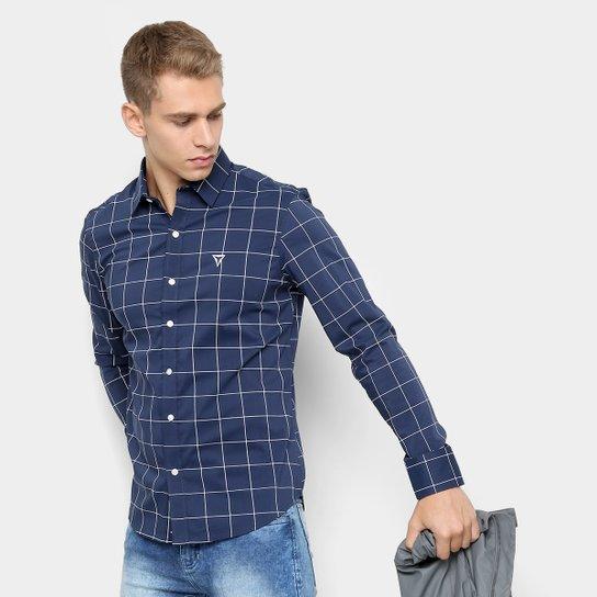 Camisa Xadrez Opera Rock Masculina - Marinho - Compre Agora  ac2bfa7e95d02