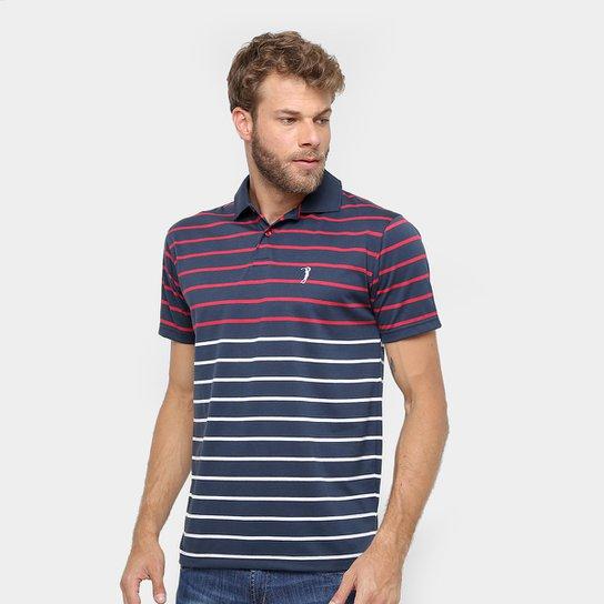 Camisa Polo Aleatory Malha Fio Tinto Listras Masculina - Compre ... a70ee940671b1