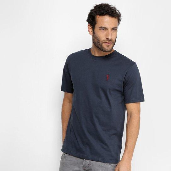667b5cd320 Camiseta Aleatory Lisa Masculina - Marinho - Compre Agora