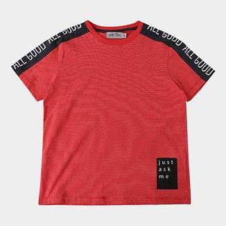 8012baa6bd5 Camiseta Infantil Fakini Estampa Listrada Masculina