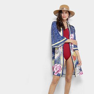 adec07a5d Saída de Praia Road Mel Kimono Estampa Floral Feminina