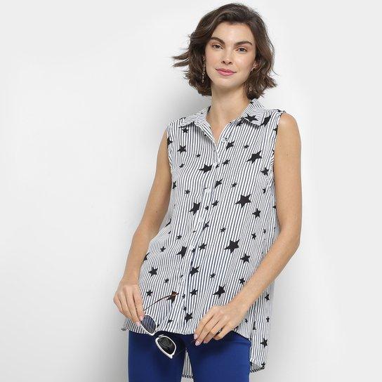 e637b76ea7308 Camisa Holin Stone Sem Manga Listrada Estrelas Feminina - Compre ...