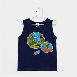f2c13d3923 Camiseta Regata Infantil Tip Top Shark Masculina