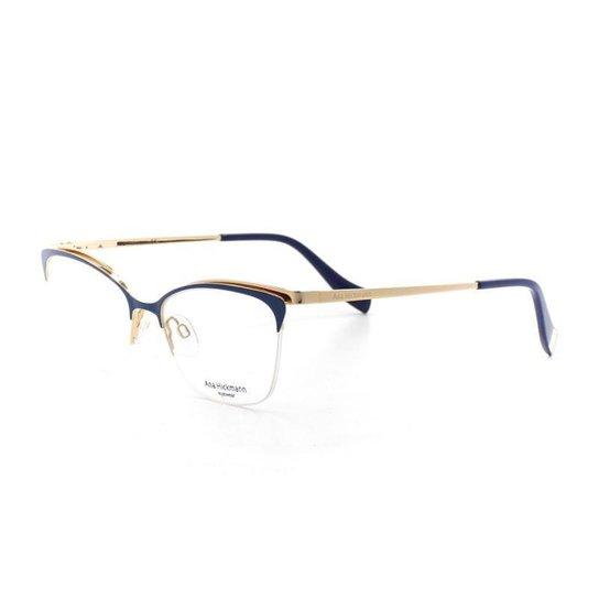 1373a069d8883 Armação De Óculos De Grau Ana Hickmann 1354 T 52 C 06A Marinho - Marinho