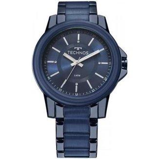 b3cde3f461d Relógio Feminino Technos Trend 2035MKJ 4A 42mm Pulseira Aço Azul