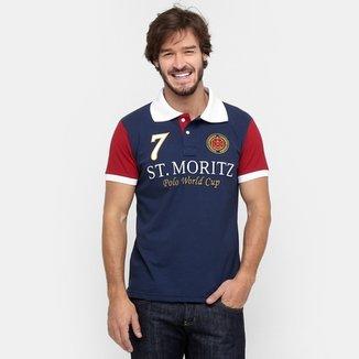 Camisa Polo Local Piquet Bicolor 2e8a81744a1e5