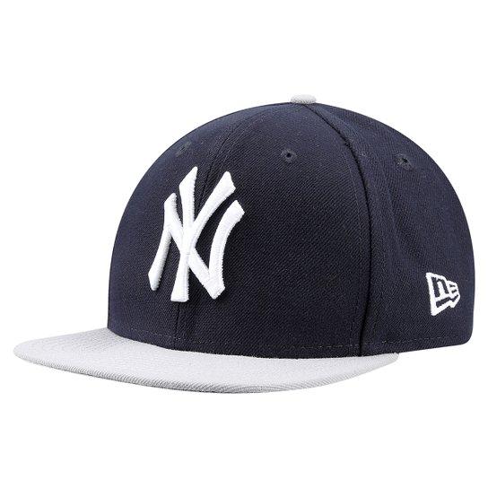 Boné New Era 950 MLB Original Fit New York Yankees Juvenil - Marinho+Branco b8c5faad2b7
