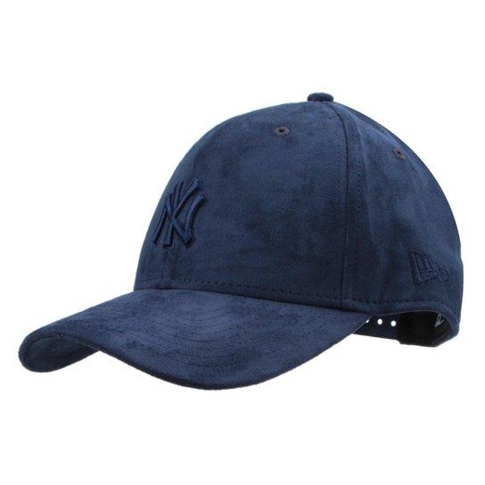 9abd24f13 Boné New Era MLB New York Yankees Aba Curva 940 Hp Sn Tonal Suede - Marinho