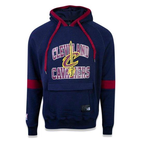 826930c9a Moletom Canguru Fechado Cleveland Cavaliers NBA New Era Masculino - Marinho