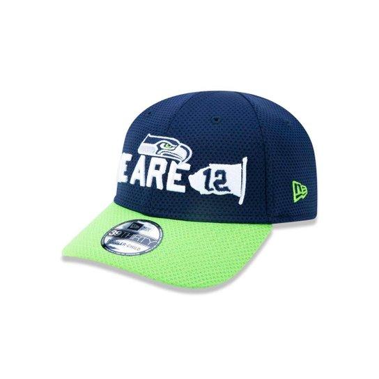 8fb8a8776 Boné 3930 Seattle Seahawks NFL Aba Curva New Era - Marinho - Compre ...