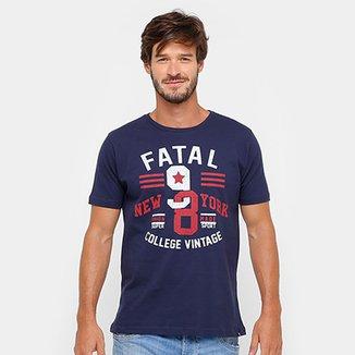 29ceee4c5 Camiseta Fatal College Vintage Masculina