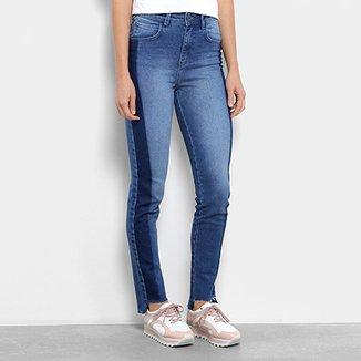 887a213ef3 Calça Jeans Skinny Coca-Cola Faixa Lateral Cintura Alta Feminina