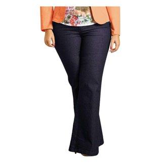 32090394d4 Calça Flare Plus Size Jeans Quintess