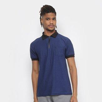 165792a710 Camisa Polo Tigs Molinê Gola Zíper Bolso Masculina