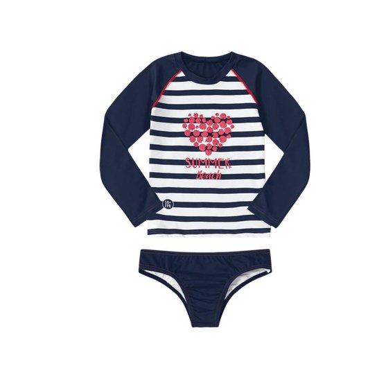 Conjunto de Biquini Bebê Marisol - Marinho - Compre Agora  e8e9fa02ad7