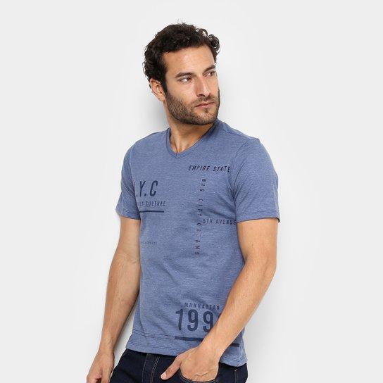 b68e53907 Camiseta Kohmar Estampada Gola V Masculina - Compre Agora   Zattini