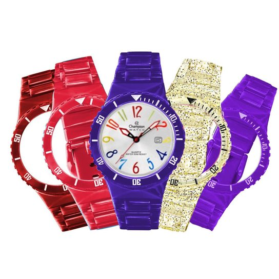 fb897840c56 Relógio Unissex Champion Troca Pulseiras Cp30119x - Compre Agora ...