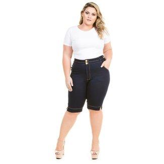 f62571bc5 Bermuda Confidencial Extra Plus Size Jeans Feminino