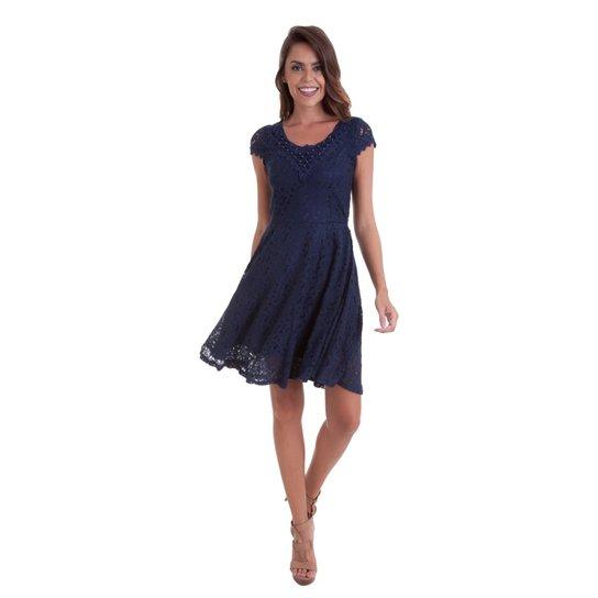 4c0438b35 Vestido Manga Kinara Renda Guipir Feminino - Compre Agora | Zattini